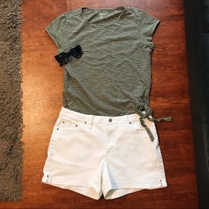 Faded Glory White Shorts Size 14